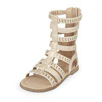The Children's Place Girl's Gold Fashion Sandals-8.5 Kids UK/India (26 EU) (209306171)
