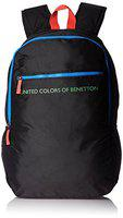 United Colors of Benetton 21 Ltrs Black Casual Backpack (16A6BAGT7004I)