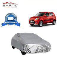 LOWRENCE SARTE Polyester Car Cover without Mirror Pockets for Maruti Suzuki Alto K10(Silver)
