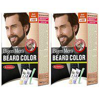 Bigen Men's Beard Color, (20g + 20g) Combo Offer Pack (2 Pc, B103 - Dark Brown)