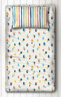 Silverlinen 100% Cotton 250 TC Dots and Stripes Single Bedsheet with One Pillow Cover - Bold Dots (Multicolour)
