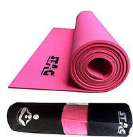 Stag Yoga Mantra Asana Pink Mat (4 mm) With Bag   Home and Gym Use for Men and Women   With Cover   For Yoga, Pilates, Exercises