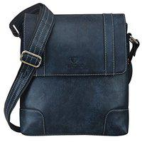 Walrus Blue Leather Messenger Bag