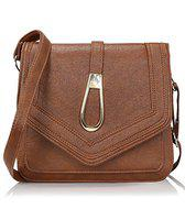 Kleio Stylish Trendy Pu Leather Sling Bags For Women And Girls - Brown (Edk1031Kl-Br)
