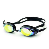 Leader Saeko Vision Mirror Swimming Goggle with Ultra Anti Fog, UV Protection for Adult's (Black)