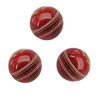 Set of 3 Balls Tima Legend Genuine Long Durable International Standards Leather Cricket Ball 2 Part by Sports Fun