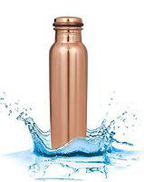 Style Homez Pure Copper Bottle Lacquer Coated, 1000 ML Handmade, Plain Design Joint Free & Leak Proof for Ayurvedic Health Benefits and Yoga (1 Litre)