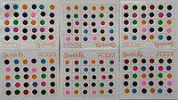 Roop Nikhar Indian Style Smallest Size Rare Collection Colored Bindi Combo Set of 6 Pcs