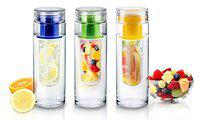 VITARA Tritan Water Bottle with Fruit Infuser and Detox, BPA resistant, 900 ml, 121 Weight Recipes eBook (Piece 1)