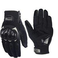 Pitzo MCS17 Riding Tribe Synthetic-mesh Men's Screen Touch Racing Biker Gloves (Black) - L