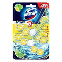 Domestos Power 5 Toilet Blocks Maxi Pack of 5 Blocks Duo Pack Lemon Pack Of 2