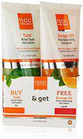 VLCC Tulsi Face Wash, 150ml with Free Orange Oil Face Wash, 150ml