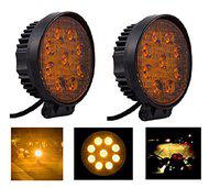A2D RND Auxiliary 9LED Bike Yellow Fog Light Set Of 2 Units For Bike Of Royal Enfield 350