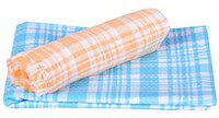 JISB Check Design 100% Cotton Bath Towels - Pack of 2