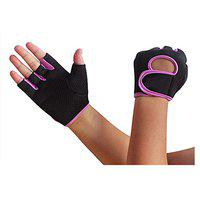CP Bigbasket Sport ( M / L / XL / XXL ) WRIST WRAP -For Men -Washable PU, Durable, Double Stitched, 4-way Stretch Mesh, Half Finger Length, No Sweat, Extra Foam Padded, Luxurious Wrist Wrap. Uses: Weight Lifting, Gym Gloves, Fitness Gloves, Work Out Gloves , Palm Protection, Cross Country, Comfort, No Calluses, Grip Strength, Gift For Women/ Men (Pink)