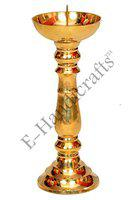 E-Handicrafts pure brass candle holder stand for church and christmas made of pure brass-12 inches,1.6KG |candle stands for decoration| |candle stands for living room| |candle stands for table| |candle holders| |candle holder stand| |candle holder for decoration|