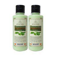 Khadi Pure Herbal Green Tea & Aloe Vera Hair Conditioner, 210 ml (Pack of 2)
