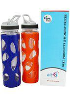 ALTG Unique Design Water Bottle with Ice Tube (Pack of 3)