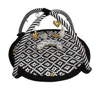 Bacati Love Baby A Countivity Gym with Mat, Black/Gold