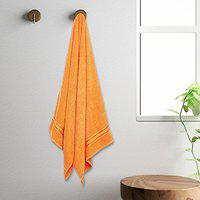 Core Designed by Spaces Solid 400 GSM Cotton Bath Towel - Rose