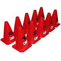 Foricx Pack of 10 Elementary Marker Cones (9 inch) for Soccer Cricket Track and Field Sports