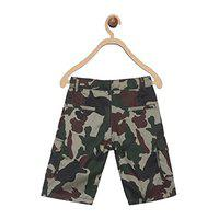 612 League Short For Boys Casual Printed Cotton Blend(Grey, Pack of 1)
