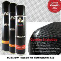 Hydrographics India Silver Carbon Fiber 21 Hydrographics Water Transfer printing Dipping combo Kit
