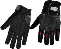 PITZO Probiker Full Finger Riding Gloves (Black, XL)