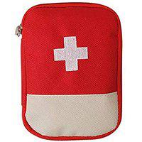 Saiyam First Aid Kit Travel Pouch Medicine Storage Bag (Empty Pouch, 18 x 13 cm, Color may Vary)