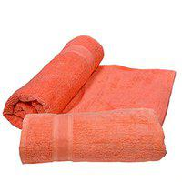 K.S. Collection Cotton Highly Absorbent Big Size Plain Bath Towels, 450GSM (30X60-inch) -2 Piece