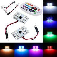 Kozdiko RGB 12 LED Roof Light with IR Remote Car Fancy Lights for Toyota Innova