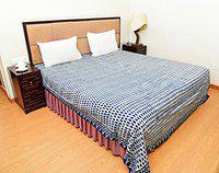 Blue Paisley Printed Bedding Bed Sheet | Indian Cotton King Size Bed Cover Bed Spread | Vegetable Dyes Hand Block Printed by Handicraft-Palace