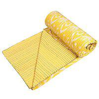 Stylo Culture Cotton 150 TC Blanket (Twin_Yellow)
