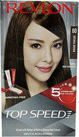 Revlon Top Speed Hair Color for Woman, Natural Brown 60, 100g with Free Revlon Outrageous Shampoo, 100ml