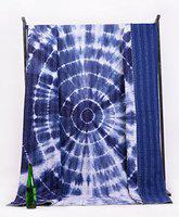 Indigo Blue Shibori Tie Dye Mandala Quilted Quilt Gudri Blanket AC Blanket Bed Throw Kantha Quilt Bedding Bedspread Bed Cover by Handicraft-Palace