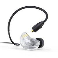 Brainwavz B400 Quad Balanced Armature Pro Reference Monitor Earbud Earphones with Detachable MMCX Cable (Black)
