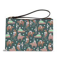 Nutcase Designer Multipurpose Makeup Cosmetic Pouch Carry Bag Wristlet Medicine Travel Wallet Organizer PU Leather Wristlet- 8 x 6 - Bears and Woods