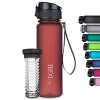 720DGREE Tritan Fruit Infuser BPA Free Water Bottle 500ml for Gym, Sports, Office, etc. | Imperial Red