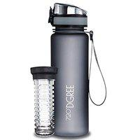 720DGREE Tritan Fruit Infuser BPA Free Water Bottle 500ml for Gym, Sports, Office, etc. | Stone Grey