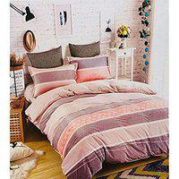 Biaba Collection Durable Super Warm Velvet Soft Touch Fitted bedsheets Balmy Hills Double Bedsheets 230 * 250 cms King Size with 2 Pillow coversTrend : All Season