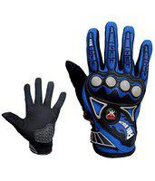 KOBO PROBIKER Imported MESH Fabric FIRE Roller Motorcycle Gloves 3805- Blue - L
