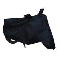 Fabric Motorcycle/Bike Royal Enfield Body Cover- Black/Grey with Free Bungee Cargo Net (Jali)
