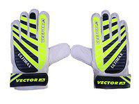 Vector X Ultimax Goal Keeping Gloves (White/Black/Green) (Size 9)