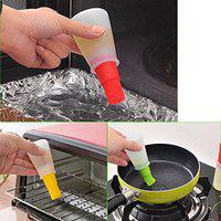 SYGA Set of 2 Silicone Cooking Oil Bottle with Basting Brush (Assorted Colour)