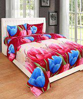 RD TREND Cottan Double Bedsheet with 2 Pillow Covers