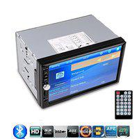 HD 7 TFT Car FM Radio Bluetooth Phone Call MP5 Player 2-DIN 12V Car Audio Video MP3/MP4/MP5 Music Video Stereo Receiver USB/SD/MMC Touch Screen AUX in Support Rearview Camera
