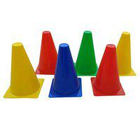 Foricx Pack of 24 Marker Cones (6 Inch) for Soccer Cricket Track and Field Sports | Elementary Marker Cones for Soccer Cricket Track and Field Sports , Training Space Marker Equipment , Agility Field and Training Cones