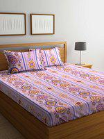 Bombay Dyeing Breeze 120 TC Cotton Double Bedsheet with 2 Pillow Covers - Pink