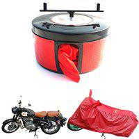 Bike Blazer Semi Automatic Waterproof Universal Size Water Repellent Full Body Bike Cover for All Motorbikes RED Cover