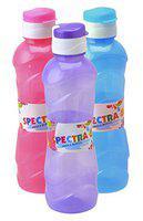 NP Sunny Pet Most Popular Spectra Fridge Bottle Set with Flexible Fliptop Cap (1 Litre, Multicolor, Set of 3)